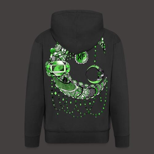 Lune dentelle Verte - Veste à capuche Premium Homme