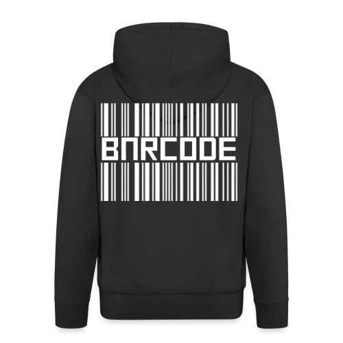 BARCODE BLACK - Men's Premium Hooded Jacket
