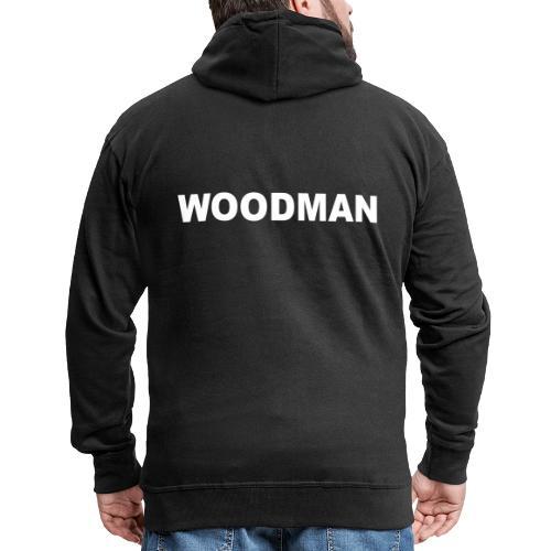 WOODMAN white - Männer Premium Kapuzenjacke