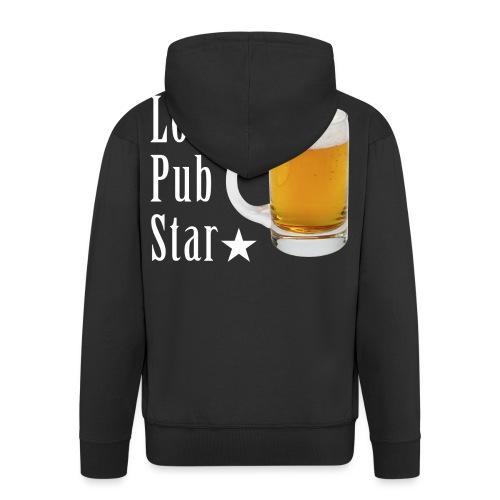 Lokalna gwiazda pubu - Rozpinana bluza męska z kapturem Premium