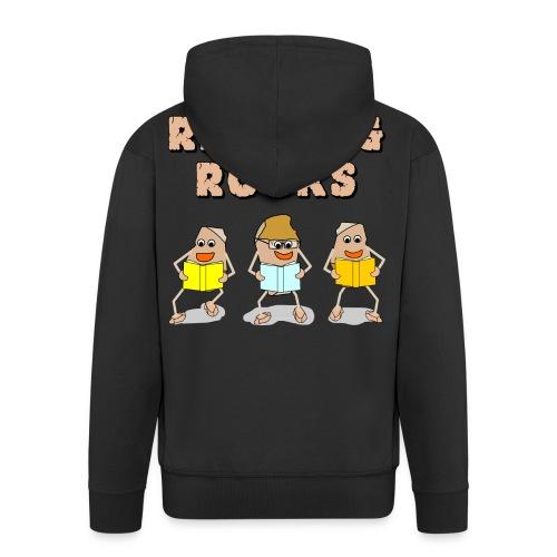 Reading Rocks Funny Book Lovers - Men's Premium Hooded Jacket