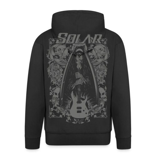 Solar Guitars Metal Ashape Gray - Men's Premium Hooded Jacket