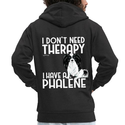 phaletherapy2 - Miesten premium vetoketjullinen huppari