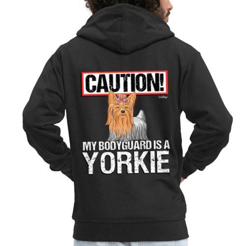 Yorkie Bodyguard - Miesten premium vetoketjullinen huppari