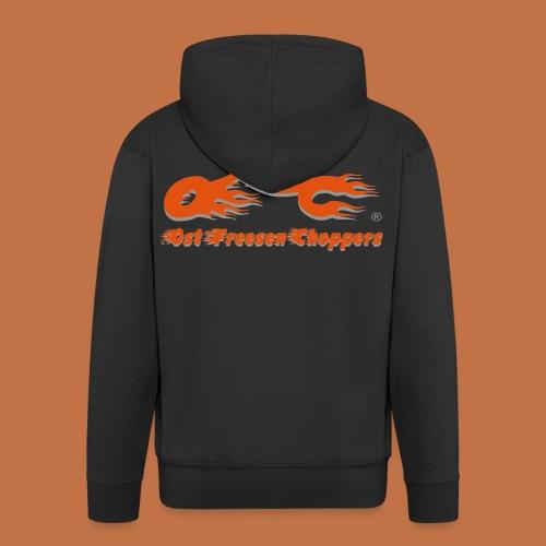 OFC Logo orangegrau 1 0 - Männer Premium Kapuzenjacke