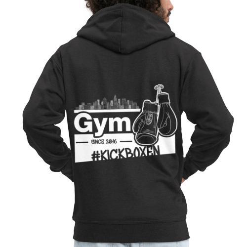 Gym Druckfarbe weiss - Männer Premium Kapuzenjacke