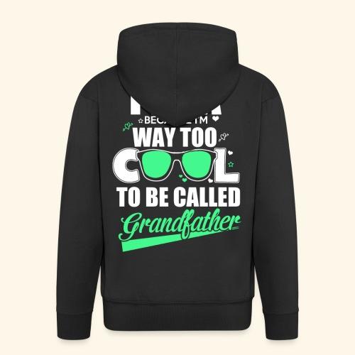 Cooles Papa Opa Grandfather T-Shirt Englisch - Männer Premium Kapuzenjacke