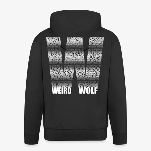 The Big W (White) - Men's Premium Hooded Jacket