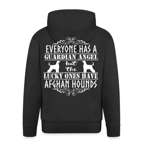 Afghan Hound Angels 2 - Men's Premium Hooded Jacket