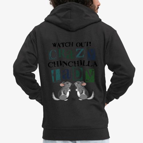 Crazy Chinchilla Lady III - Miesten premium vetoketjullinen huppari
