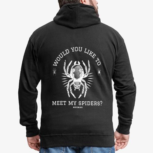 Meet my Spiders - Miesten premium vetoketjullinen huppari