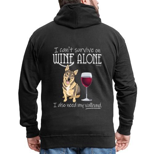 Wine Alone Vallhund II - Miesten premium vetoketjullinen huppari