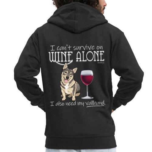 Wine Alone Vallhund - Miesten premium vetoketjullinen huppari