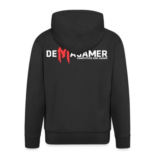 Demagamer MAN Competitive Girl-Gamer - Felpa con zip Premium da uomo