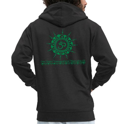 Ganesha Mantra OM Symbol Yoga Tshirt Hoodie - Männer Premium Kapuzenjacke