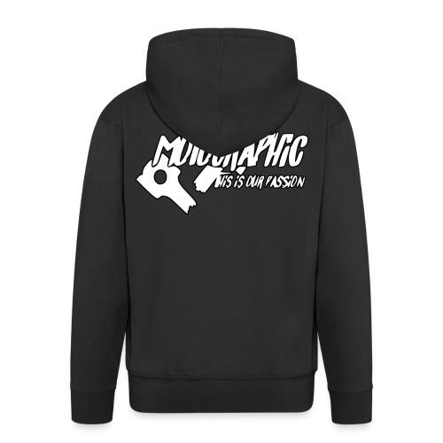 MotoGraphic logo wit zwart - Mannenjack Premium met capuchon