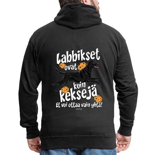 Labradori Keksi 3 - Miesten premium vetoketjullinen huppari