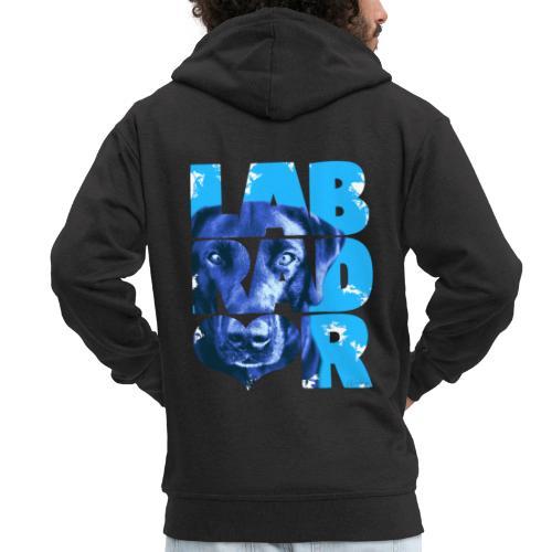 NASSU Labrador Black I - Miesten premium vetoketjullinen huppari