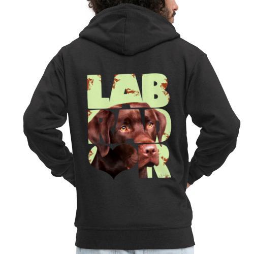 NASSU Labrador Brown II - Miesten premium vetoketjullinen huppari