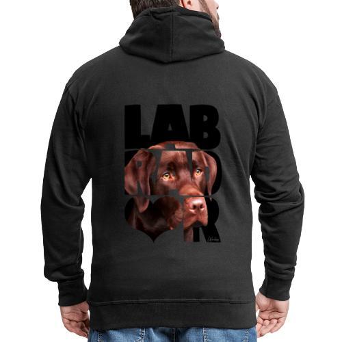 NASSU Labrador Brown IV - Miesten premium vetoketjullinen huppari