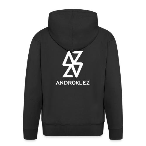 Androklez Logo - Men's Premium Hooded Jacket