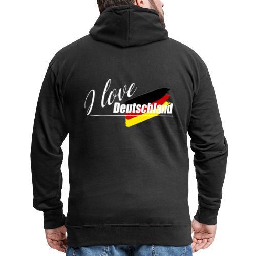 I love Deutschland - Männer Premium Kapuzenjacke