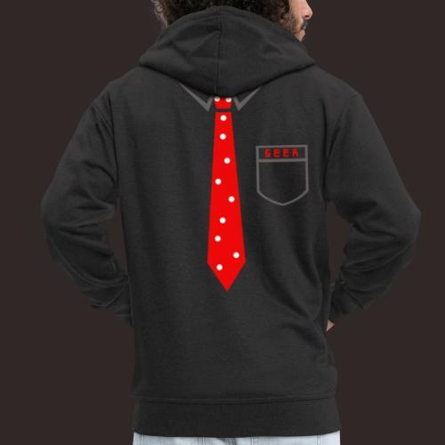 Geek   Schlips Krawatte Wissenschaft Streber - Männer Premium Kapuzenjacke