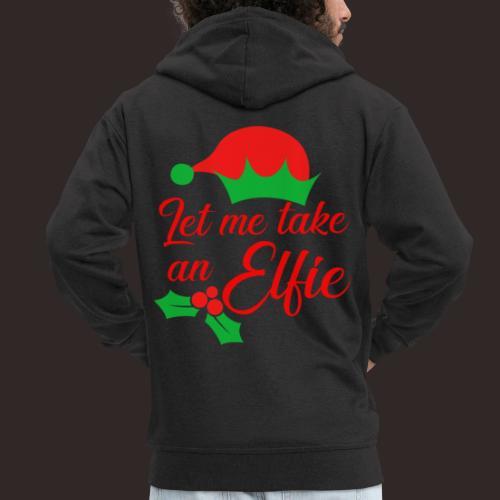 Weihnachten   Elf Mütze Weihnachtself Wortspiel - Männer Premium Kapuzenjacke