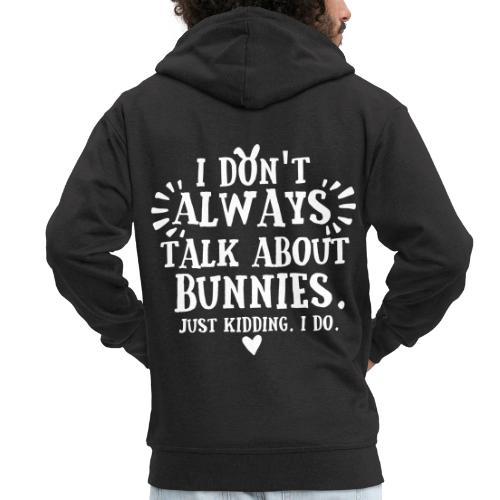 Always Talkin Bunnies 2 - Miesten premium vetoketjullinen huppari