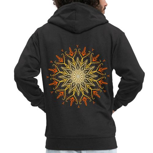 Mandala of fire - Men's Premium Hooded Jacket