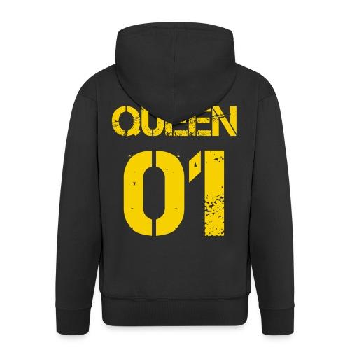 Queen - Rozpinana bluza męska z kapturem Premium
