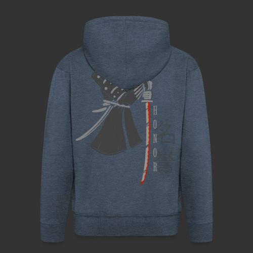 Samurai Digital Print - Men's Premium Hooded Jacket