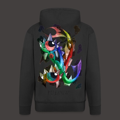 Poisson multi-color - Veste à capuche Premium Homme