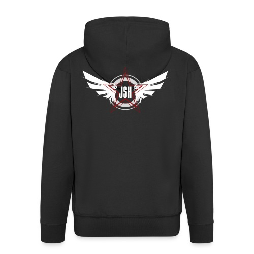 jshlogo10w - Men's Premium Hooded Jacket
