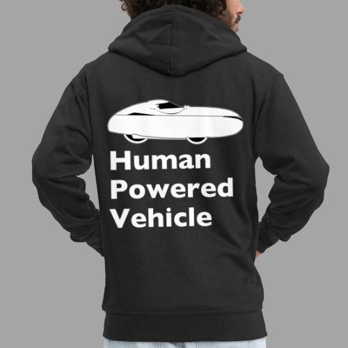 Quest Human Powered Vehicle 2 white - Miesten premium vetoketjullinen huppari