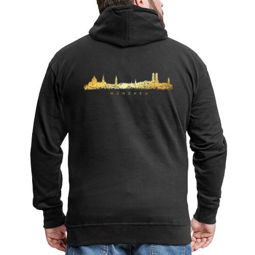Münchener Skyline (Vintage/Goldgelb) München - Männer Premium Kapuzenjacke