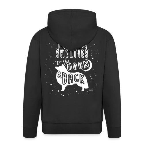 Sheltie Moon 2 - Men's Premium Hooded Jacket