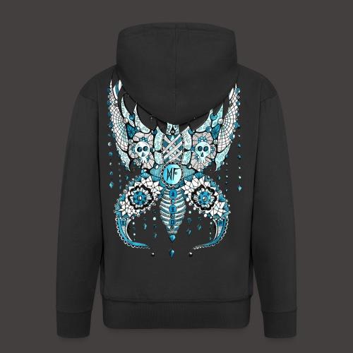 Papillon Lilou Turquoise - Veste à capuche Premium Homme