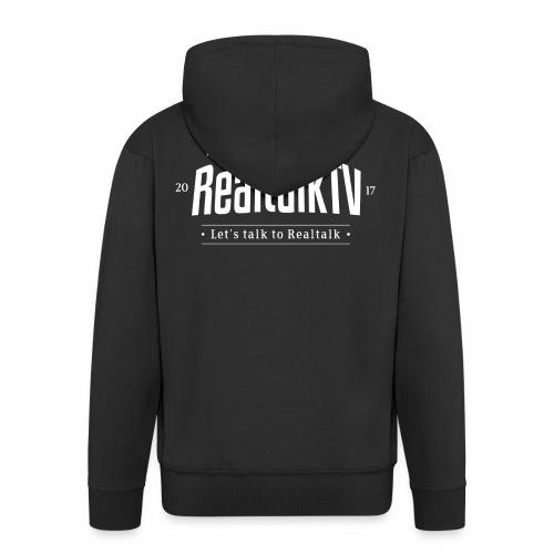 realtalk logo weiss - Männer Premium Kapuzenjacke