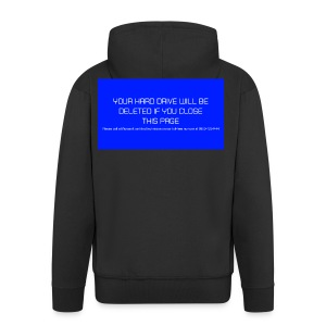 Hard Drive Deleted Notice - Men's Premium Hooded Jacket
