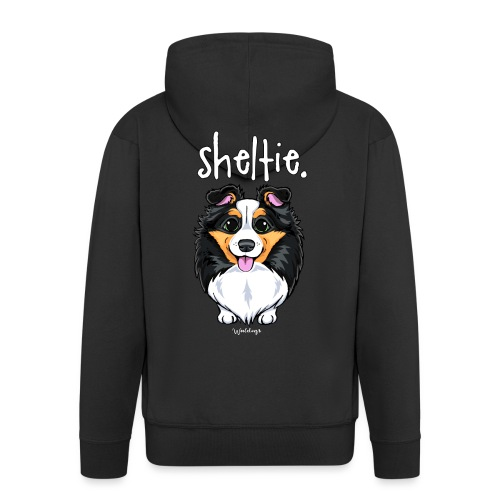 Sheltie Dog Cute 6 - Men's Premium Hooded Jacket