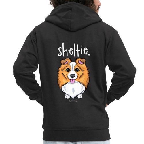 Sheltie Dog Cute 5 - Miesten premium vetoketjullinen huppari