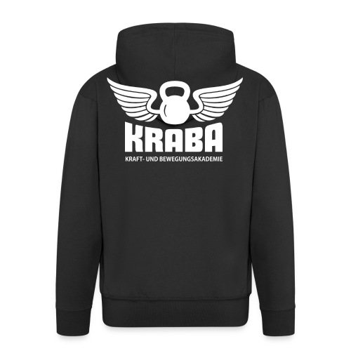 KRABA Logo weiß - Männer Premium Kapuzenjacke