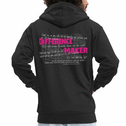 Difference Maker pink - Männer Premium Kapuzenjacke