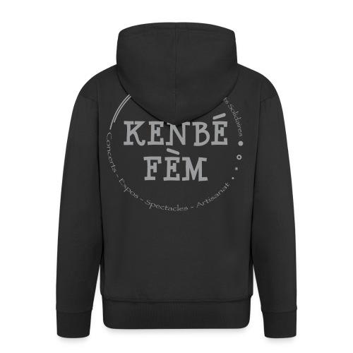KenbeFem Back Gris png - Veste à capuche Premium Homme