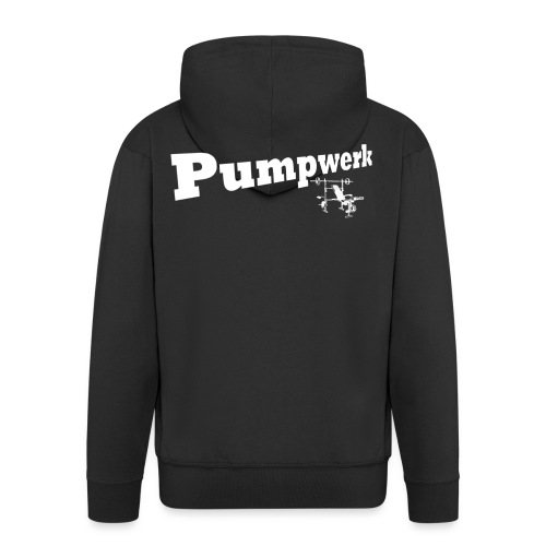Pumpwerk bench white - Männer Premium Kapuzenjacke