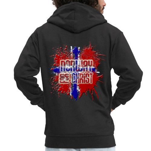 Norway for CHRIST - Men's Premium Hooded Jacket