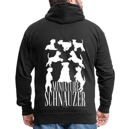 Miniature Schnauzer - Miesten premium vetoketjullinen huppari