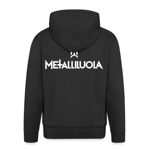 Metalliluola - Miesten premium vetoketjullinen huppari