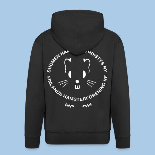 Valkoinen_vektori_logo - Miesten premium vetoketjullinen huppari